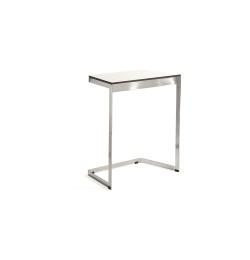 MATERIA_monolite table white chrome_w